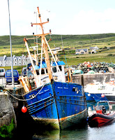 Portmagee Ireland Harbor Fishing Boat